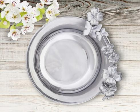 """$137.00 10 1/2"""" Dogwood-Butterfly Serving Bowl"""
